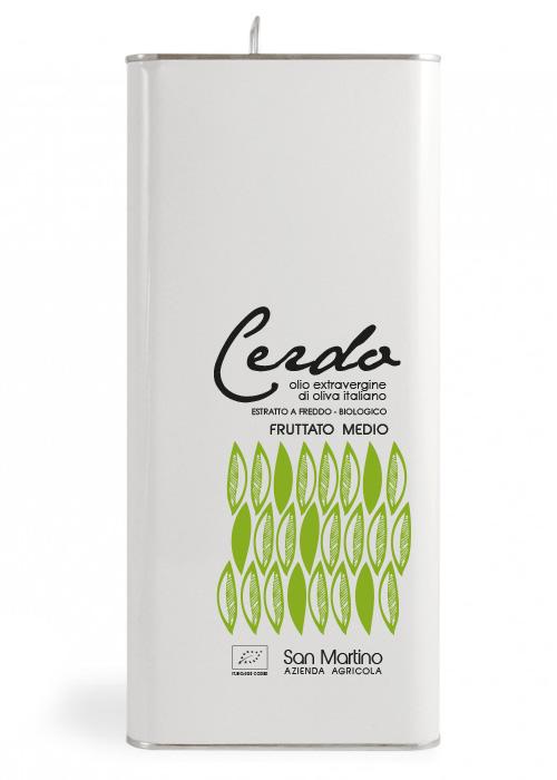 Olio Extravergine di Oliva Biologico - Fruttato Medio - Azienda San Martino - lattina 5 litri