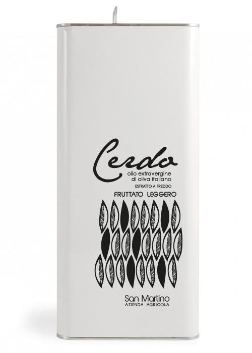Olio Extravergine di Oliva - Fruttato Leggero - Azienda San Martino - lattina 5 litri